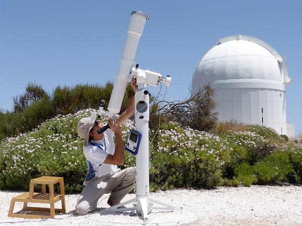 Sonnenteleskop (c) Anja Knorr