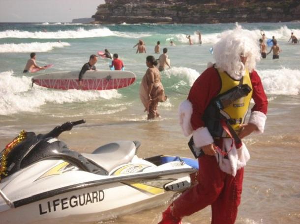 Bondi Beach Weihnachtsmann (c) Anja Knorr