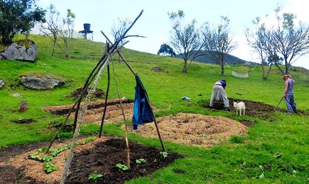 La Calera Kolumbien Farmarbeit (c) Anja Knorr