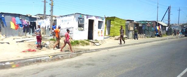 Township Südafrika Straße  (c) Anja Knorr